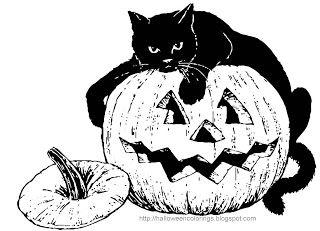 Halloween Cat And Pumpkin Coloring Page Halloween Coloring Pages Halloween Coloring Book Cat Coloring Page