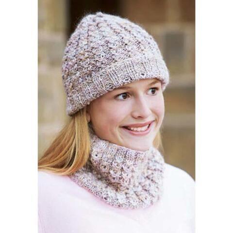 Mock Cables Hat   Cowl Knit Pattern  75f48d74a16