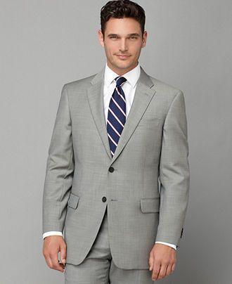 f0d3764f40f767 Tommy Hilfiger Jacket, Grey Sharkskin Slim Fit - $229.99 | Got to be ...