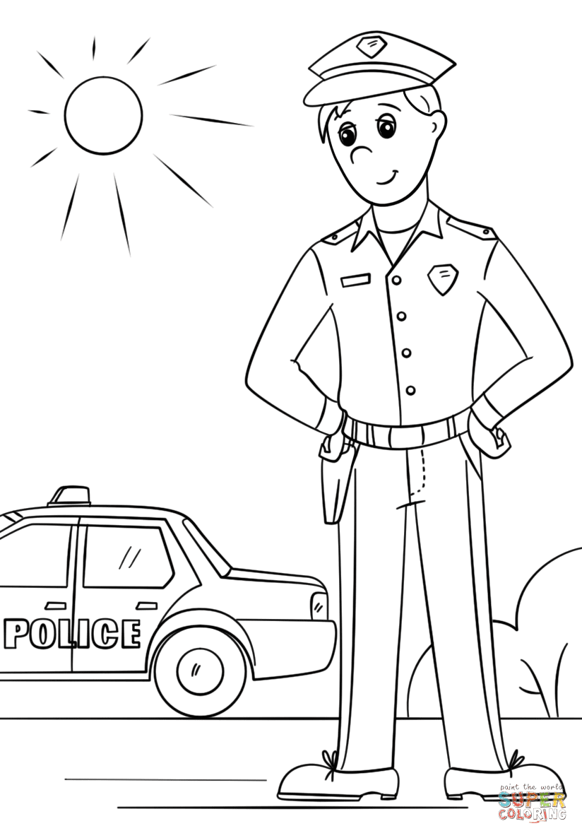 Police Coloring Pages To Print Truck Coloring Pages Teddy Bear Coloring Pages Coloring Pages For Kids