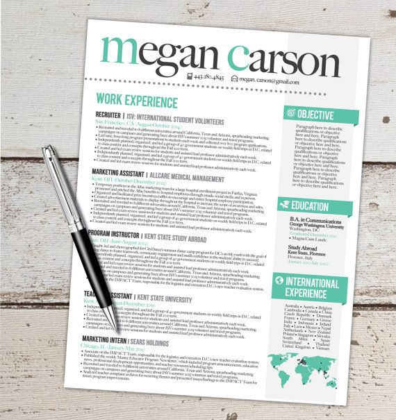 RESUME DESIGN CUSTOMIZED (NOT TEMPLATE) This design will help - international experience resume