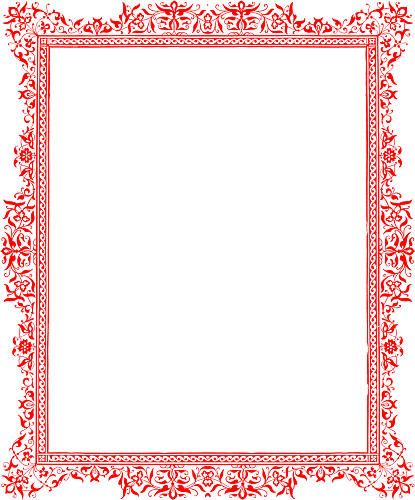 word decorative borders cv
