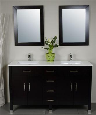 3160 60 Two Sink Bath Vanity With Reviews Modernbathrooms Ca