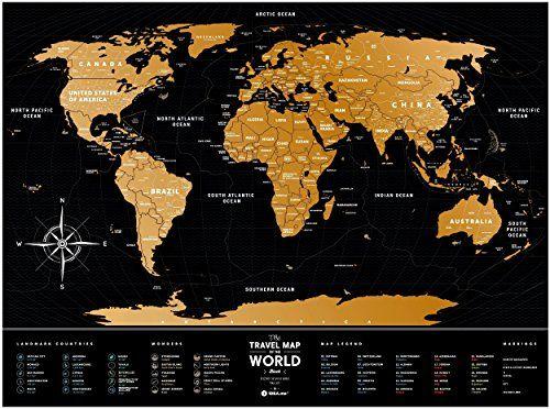 Black scratch off travel world map premium edition 31 the black scratch off travel world map premium edition 31 gumiabroncs Gallery