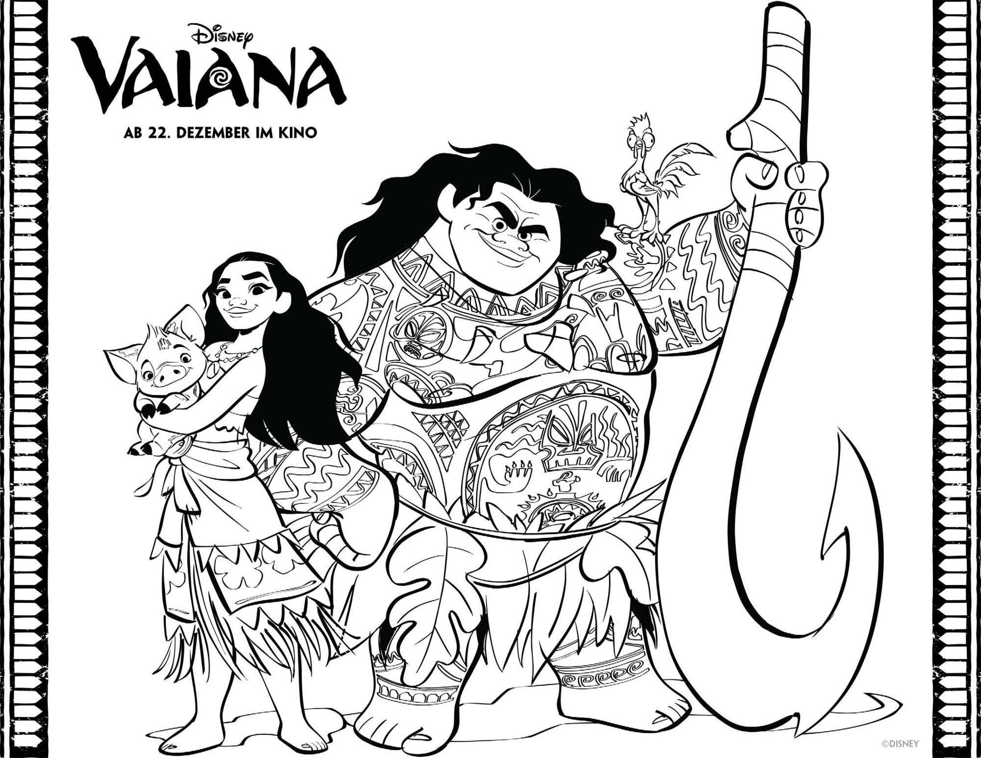 Vaiana Als Malvorlagen Zum Ausdrucken  Coloring and Malvorlagan