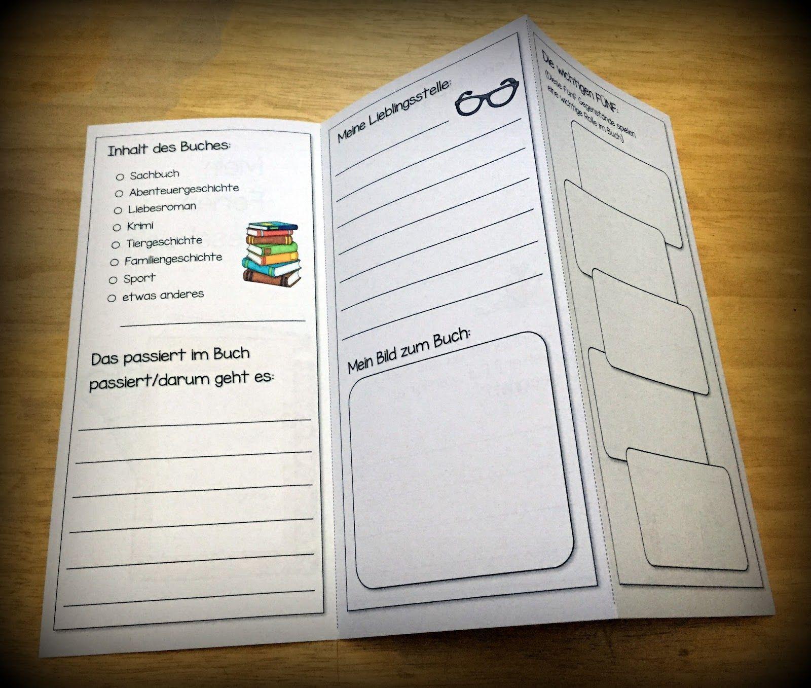 Buchvorstellung grundschule, Deutsch lesen, Deutsch