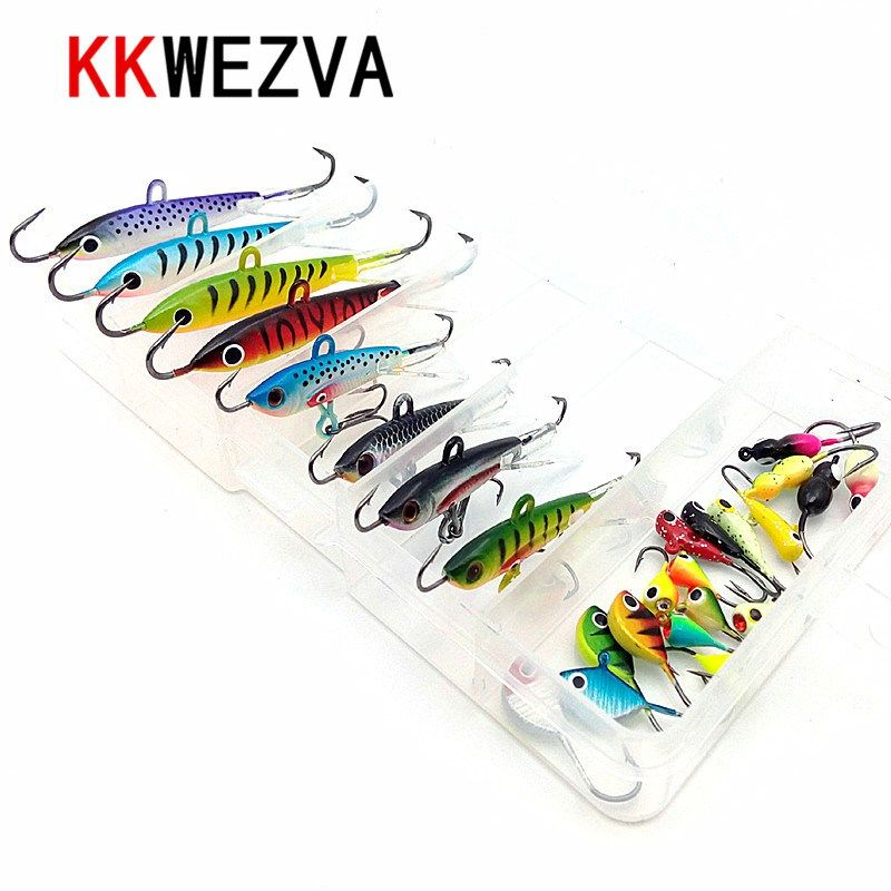 26pcs Lot Minnow Fishing Lures Bass Crankbait Hooks Tackle Crank Baits Fish EN