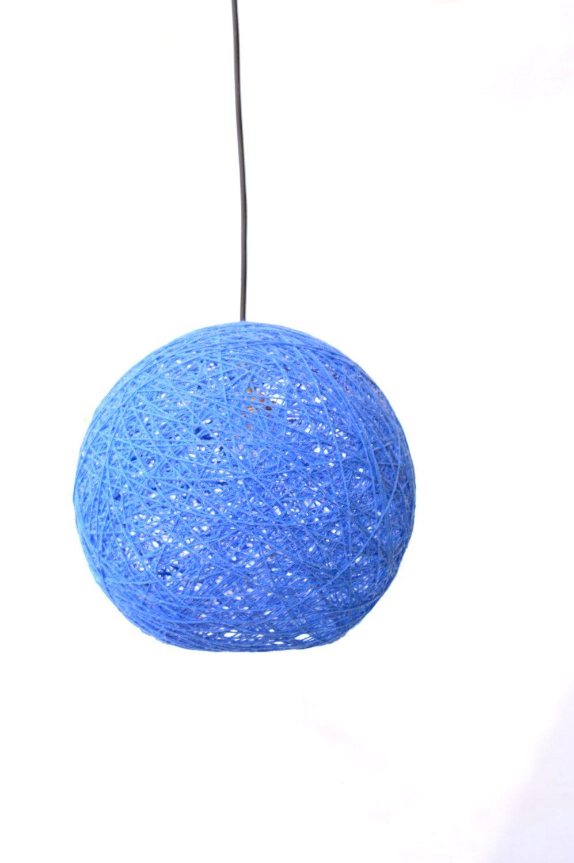 Blue sphere modern pendant lamp globe pendant light lighting blue sphere modern pendant lamp globe pendant light lighting fixture ball shadow arubaitofo Choice Image