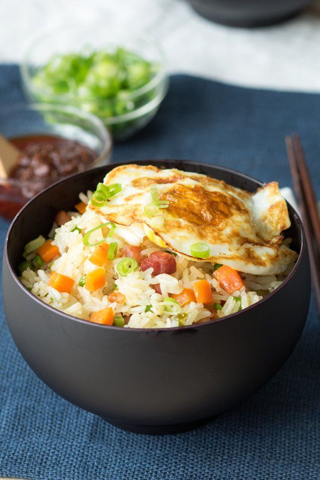 Pancetta Fried Rice is perfect for a savory brunch! Top it with a fried or runny egg | The Worktop
