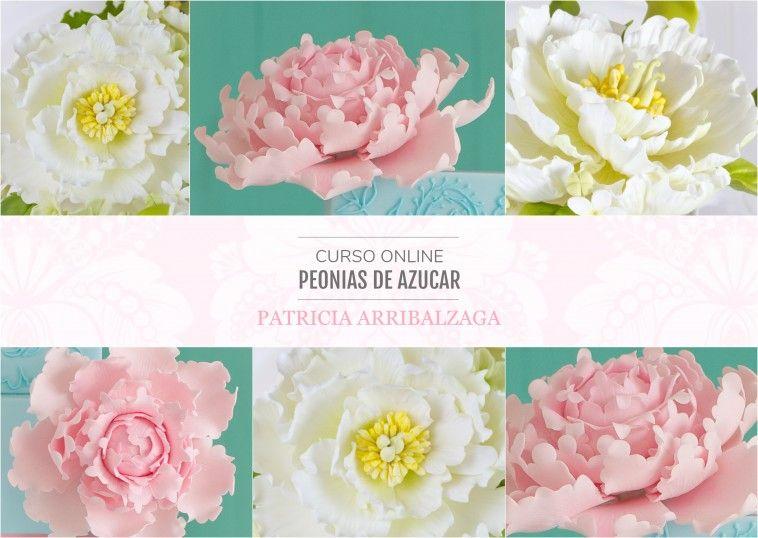 Curso Online de Peonías de Azúcar - Patricia Arribálzaga www.cakeshautecouture.com