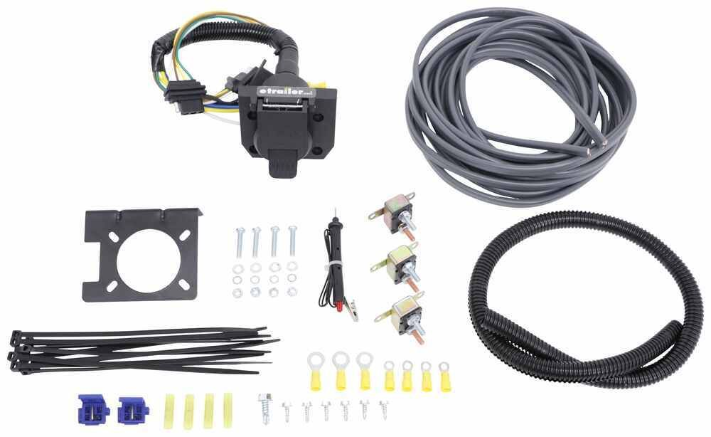 Universal Installation Kit For Trailer Brake Controller 7 Way Rv And 4 Way Flat 10 Gauge Wires E Little Guy Trailers Trailer Installation