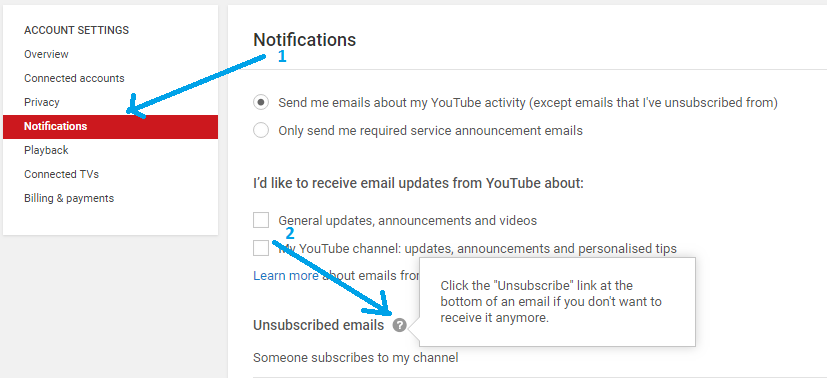 How To Unsubscribe Youtube New Subscriber Email Notification