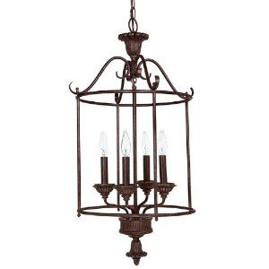 Capital Lighting French Country 3 Lamp Hanging Outdoor Lantern Black 9864BK
