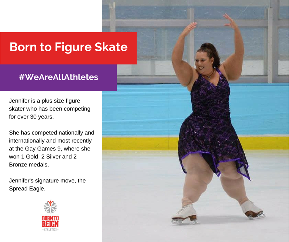 Jennifer, plus size figure skater who has competed for over 30 years ...
