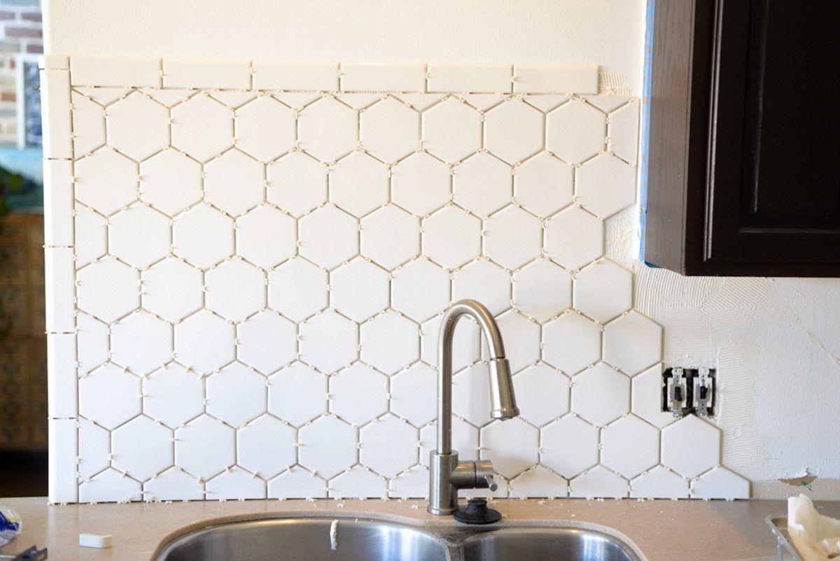 Hexagon Tile In The Kitchen Hexagon Tile Kitchen Hexagon Tile Backsplash Kitchen White Hexagon Tiles