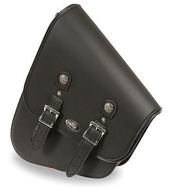 MOTORCYCLE MEDIUM SWING ARM SADDLEBAG TWO STRAP WITH BUFFALO NICKEL LEFT SIDE