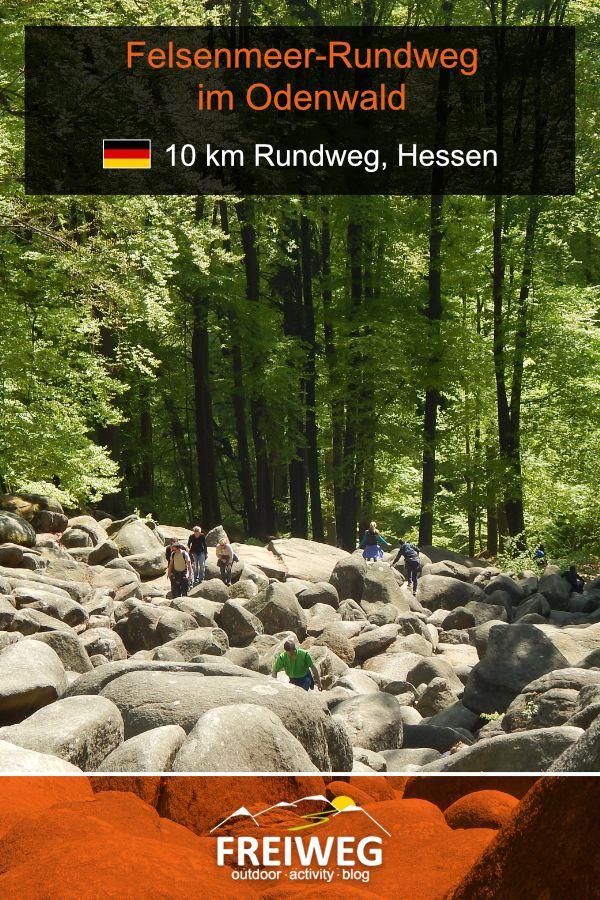 FelsenmeerRundweg im Odenwald. WanderTagestour in Hessen