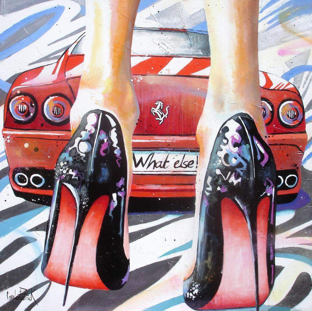 My high heels, my pretty Ferrari and me