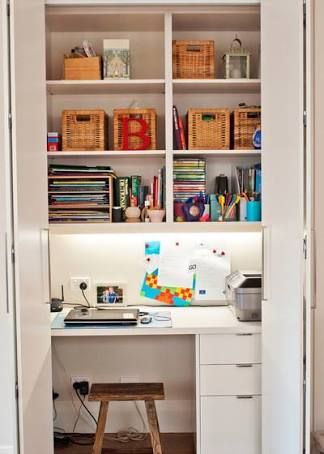 Image Result For Hallway Office Nook Home Office Closet Small Apartment Design Office Cupboards