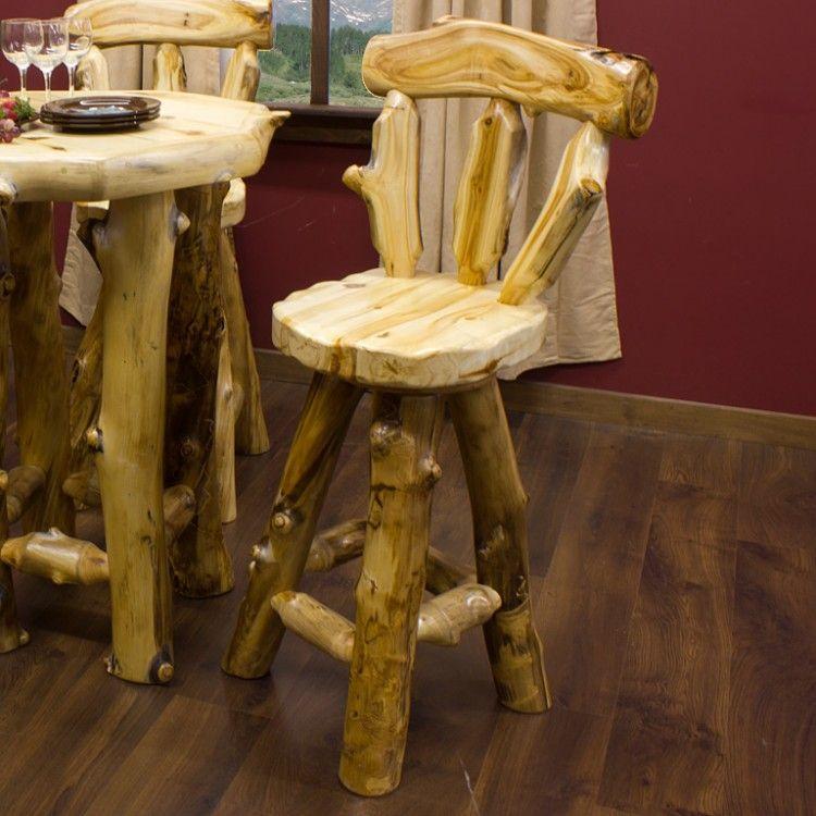 Aspen Lodge Log Bar Stool Log Bar Stools Bar Stools Rustic Bar Stools