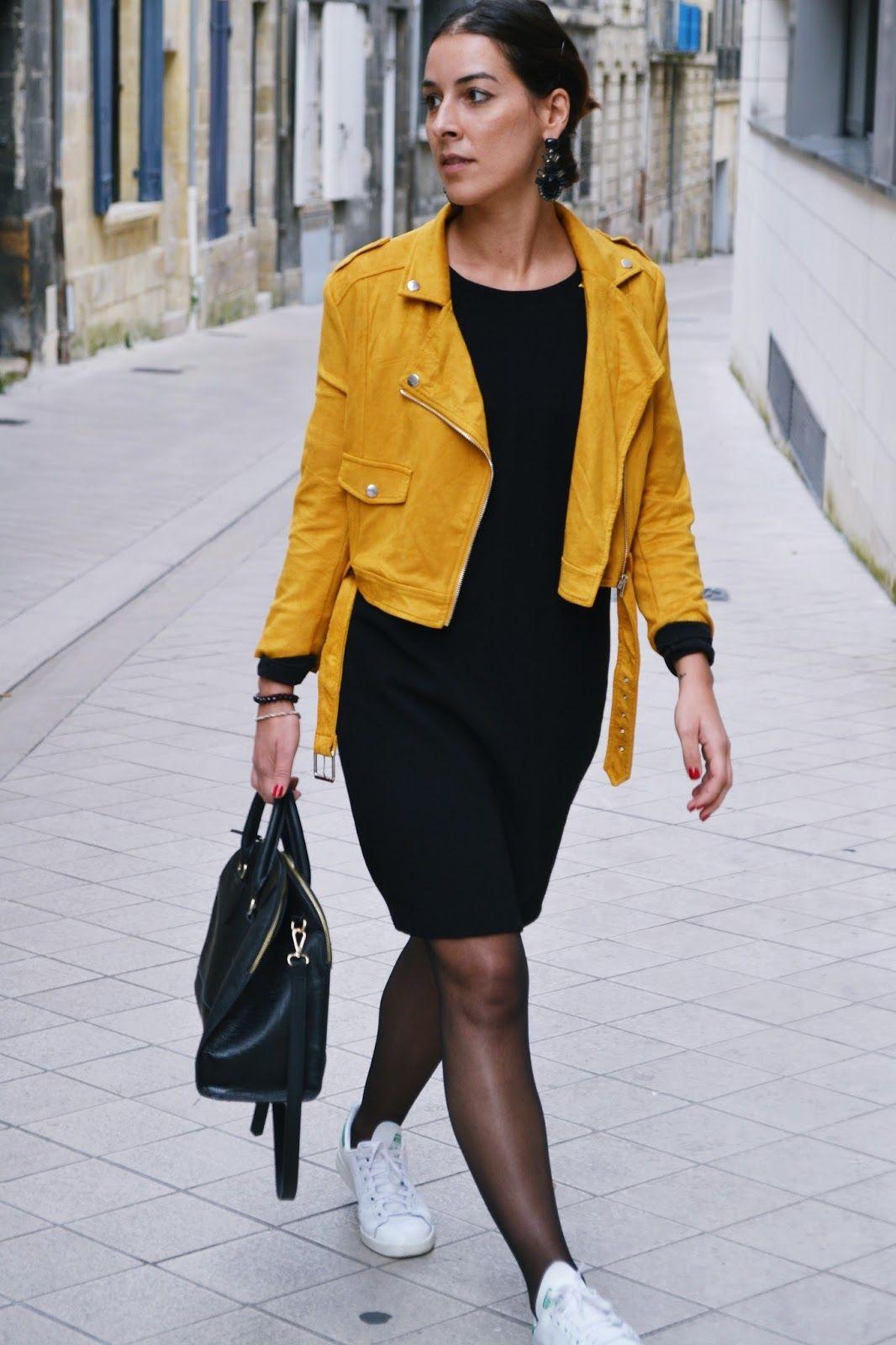 Veste jaune suedine