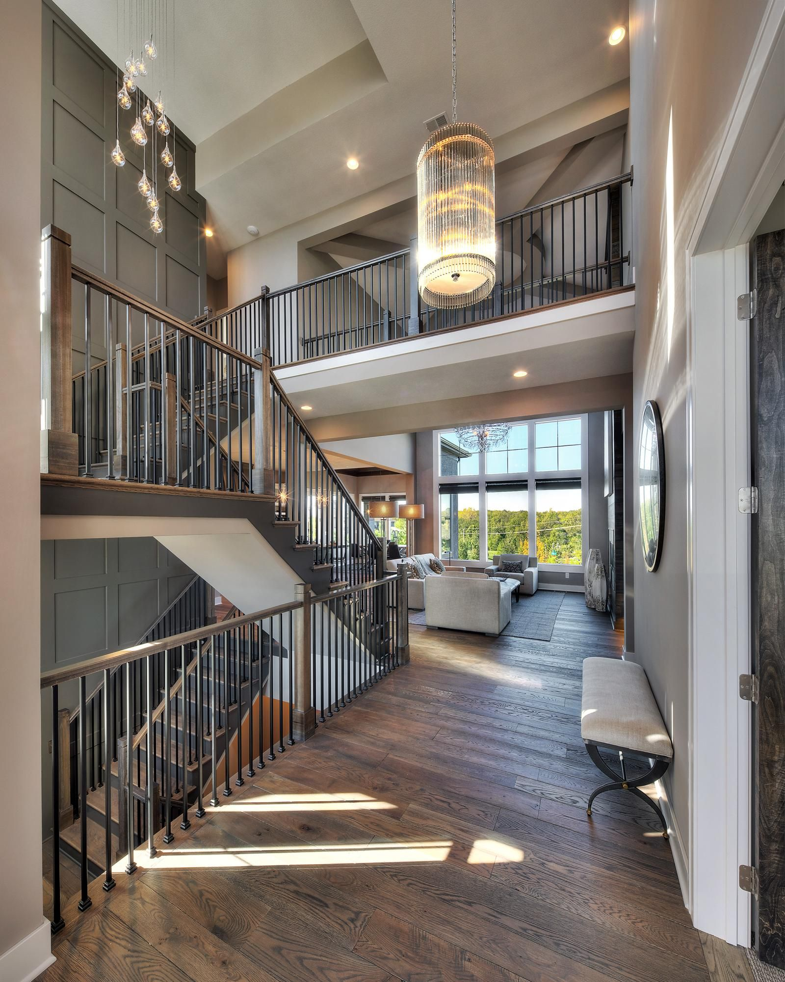 Custom Home Interiors: Entry & Staircases Photo Gallery