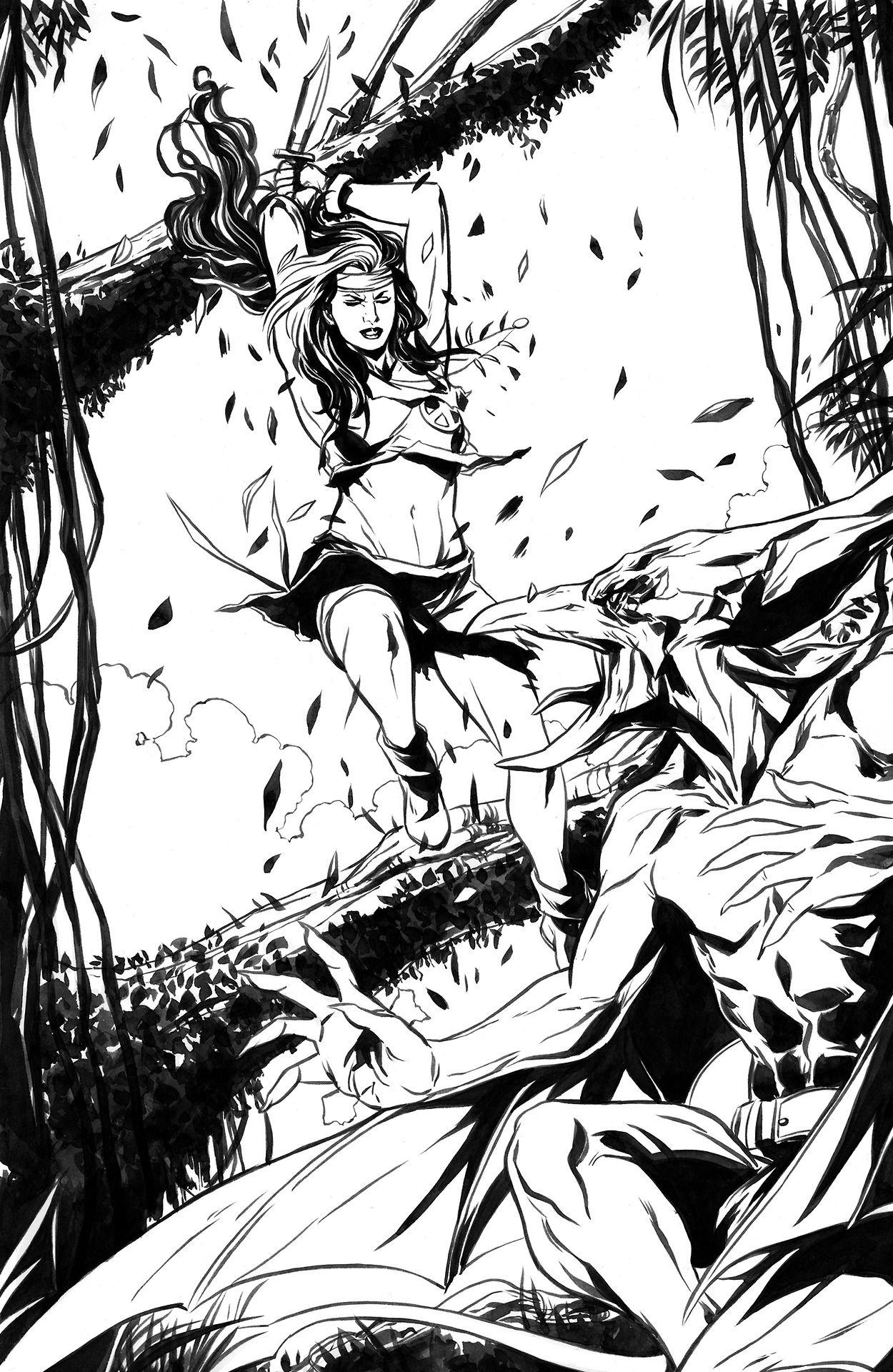 Savage Land Rogue Vs Sauron By Marc Laming Marvel Superheroes