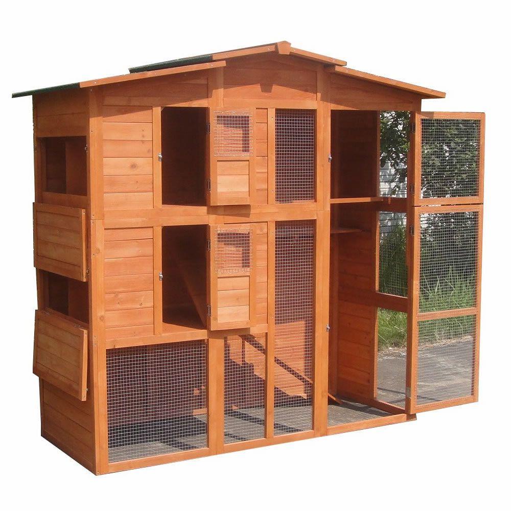 xxl h hnerstall freilaufgehege freigehege holz hasen stall kaninchenstall haustierbedarf. Black Bedroom Furniture Sets. Home Design Ideas