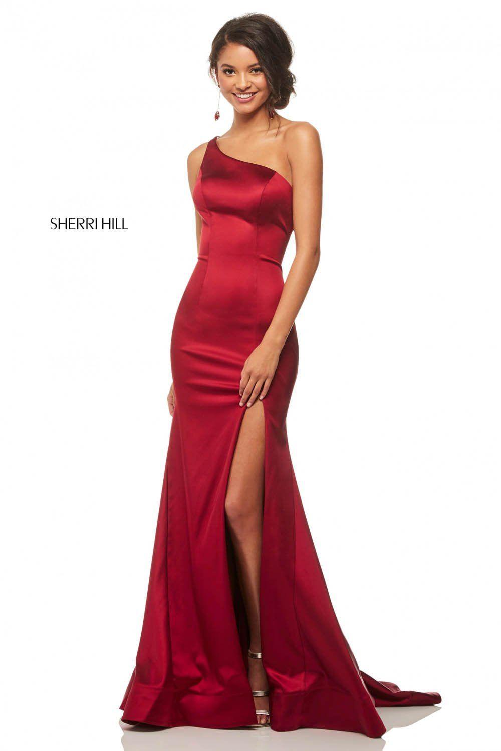 Sherri Hill 52886 Dress - 14 / Wine
