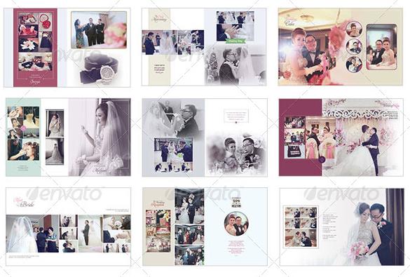 wedding photo album indesign template - Szukaj w Google | Wedding ...