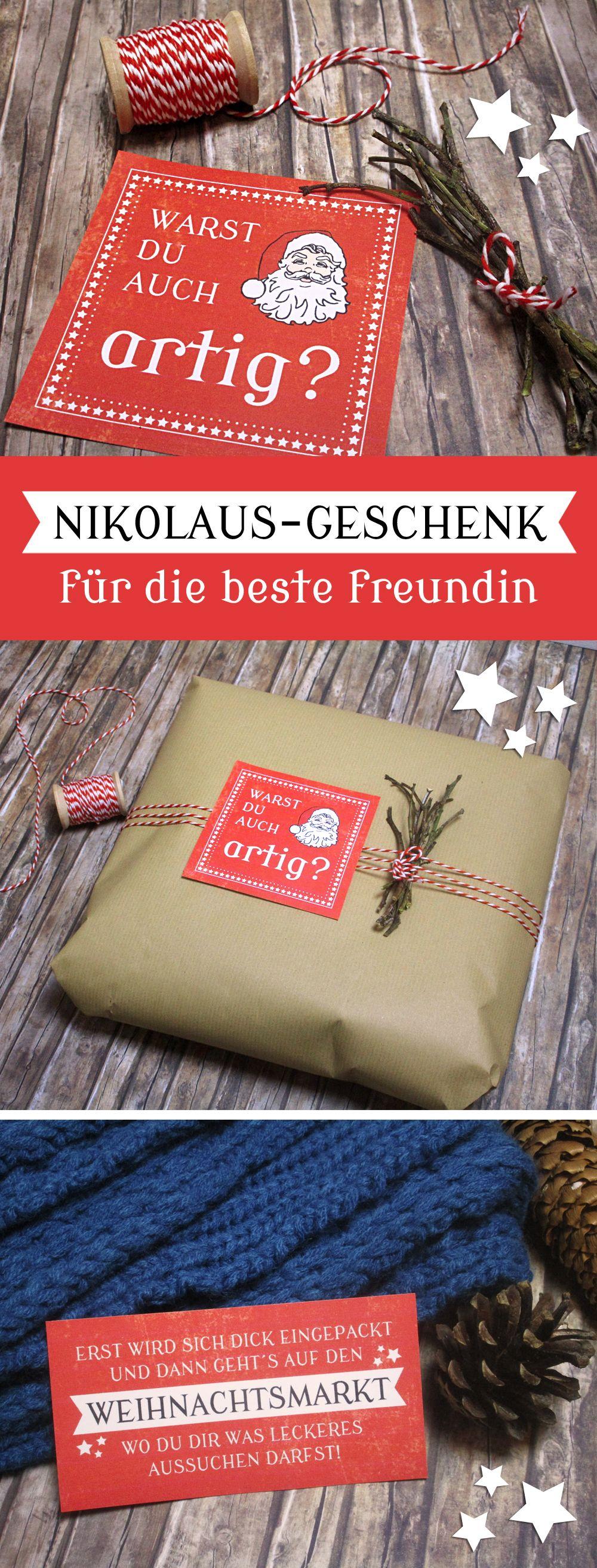 geschenkidee f r die beste freundin zum nikolaus free printables weihnachten christmas. Black Bedroom Furniture Sets. Home Design Ideas