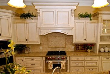Paint With Glaze Traditional Kitchen Other Metro By Dewan Cabinetry Antique White Cabinets Antique White Kitchen Kitchen Cabinet Design