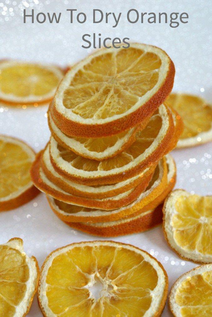 How to dry orange slices Christmas Pinterest Dried orange