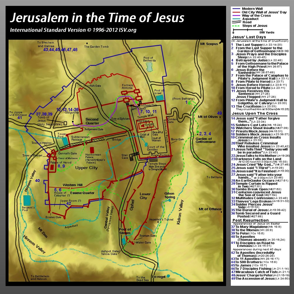 Bible Map: Jerusalem in Jesus' Time | Catholic | Bible mapping ... on map of asia in the time of christ, israel during jesus' time, map of israel at time of christ, map paul's time, map jerusalem time of christ,