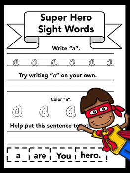 Sparklebox Maths Worksheets Super Hero Sight Words  Kindergarten Sight Words Worksheets And  Addition Worksheets To 20 Word with Free Verb Worksheets Pdf Super Hero Sight Word Worksheet Packet K Latitude And Longitude Practice Worksheet Word