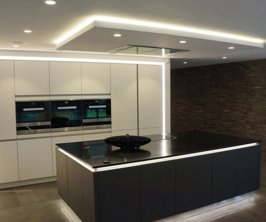 46 kitchen lighting ideas fantastic pictures stove for Modern kitchen lighting design