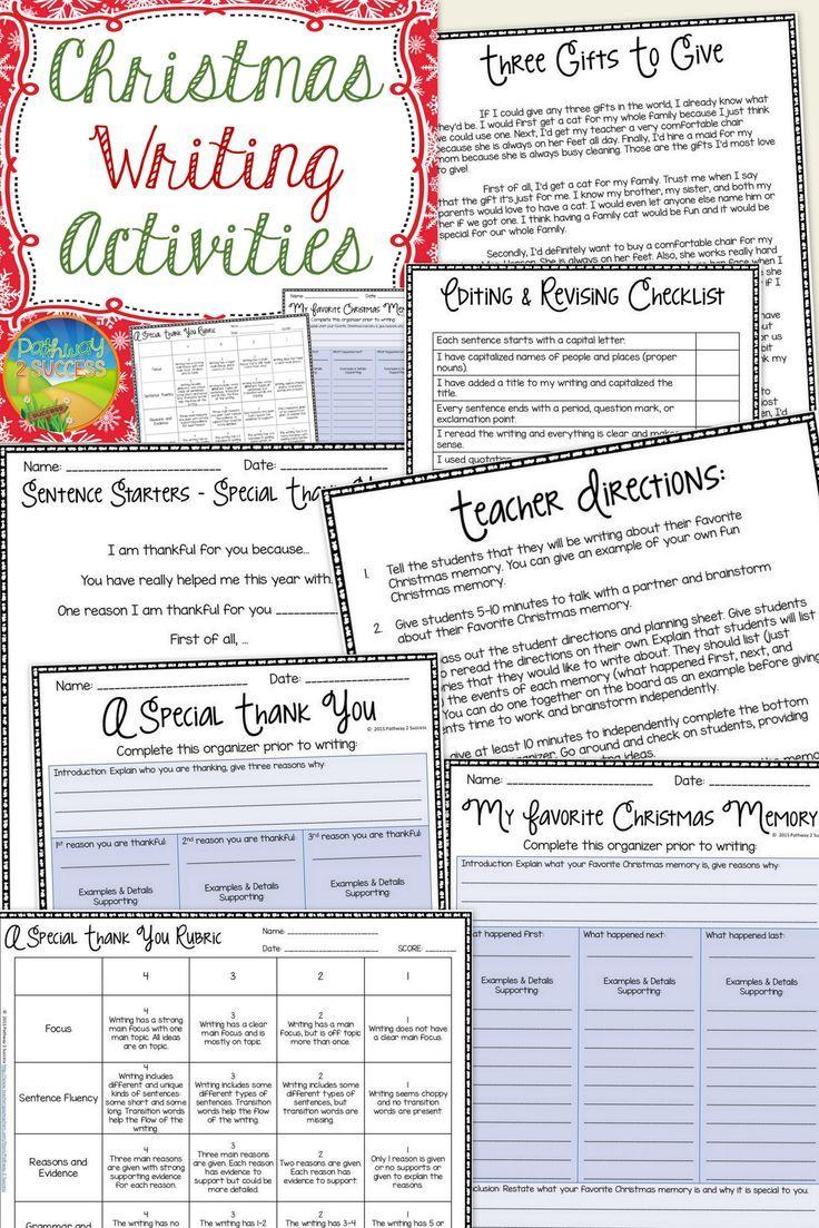 Christmas Writing Activities | Pinterest | Christmas writing ...
