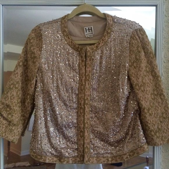 Haute Hippie sequin embellished blazer Gorgeous Haute Hippie sequin beaded jacket. Worn a few times and in excellent condition. Size medium but runs like a small. Hidden hook and eye closures fasten the front of the jacket. Does not come with tags but I found an image online showing the original retail. ❤️ Haute Hippie Jackets & Coats Blazers