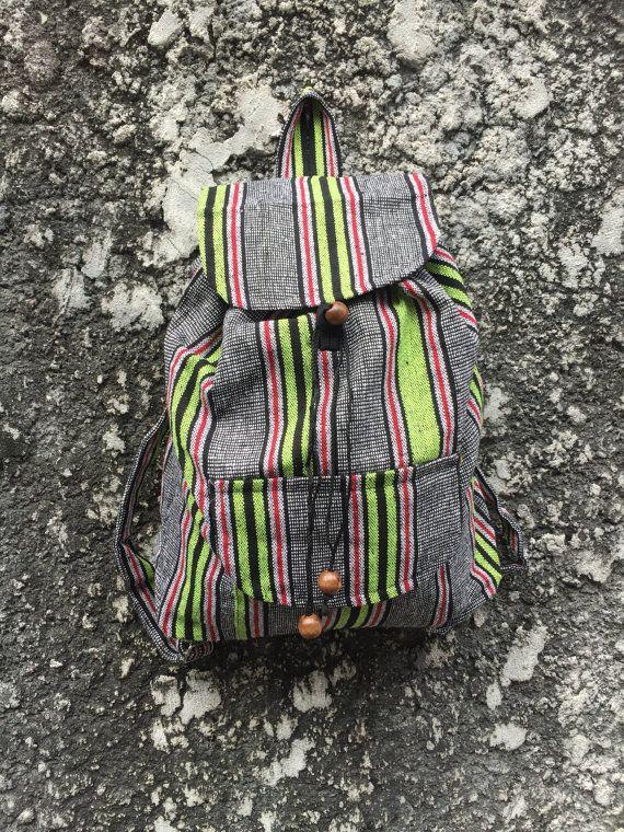 Festival Boho Backpack Ethnic Aztec Print Tribal Woven Fabric ... e5822fcf64