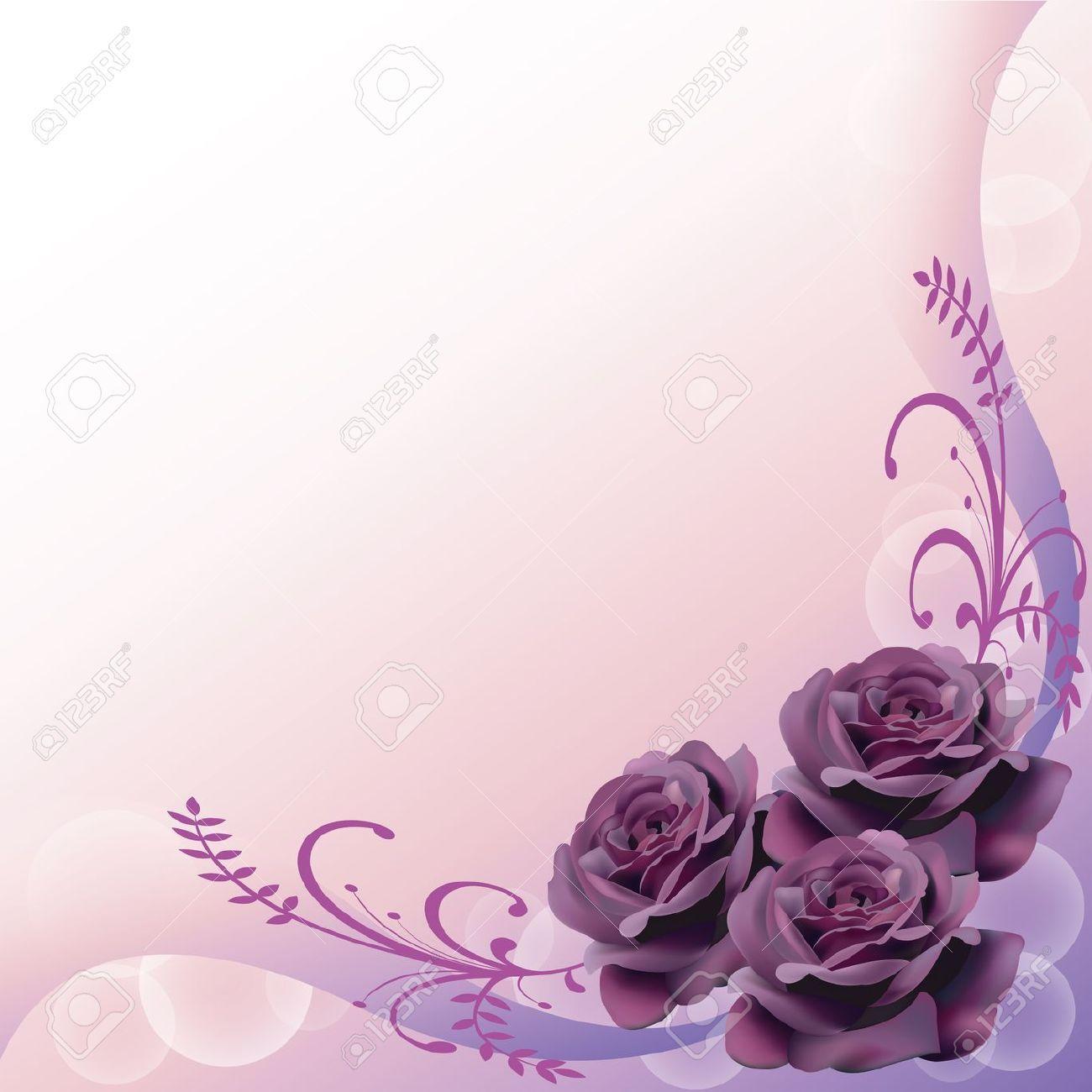 Lavender Background Wedding Invitation Border