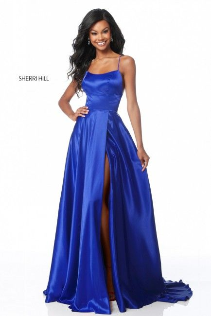 ed31a01da9cd Sherri Hill 51631 Lace-Up Back Formal Gown with Slit in 2019 ...