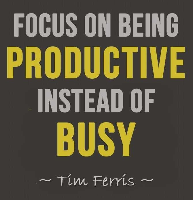 Enlightened Worriors: HOW TO BE MORE PRODUCTIVE ...