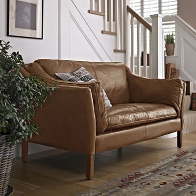 The Dillon High Back 3 Seater Sofa - Leather Sofas - Living Room ...