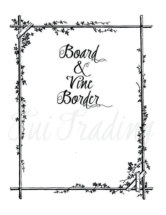 Vector Border, Ornamental Edges, Card Elements, SVG Card Graphics, Vine Frame