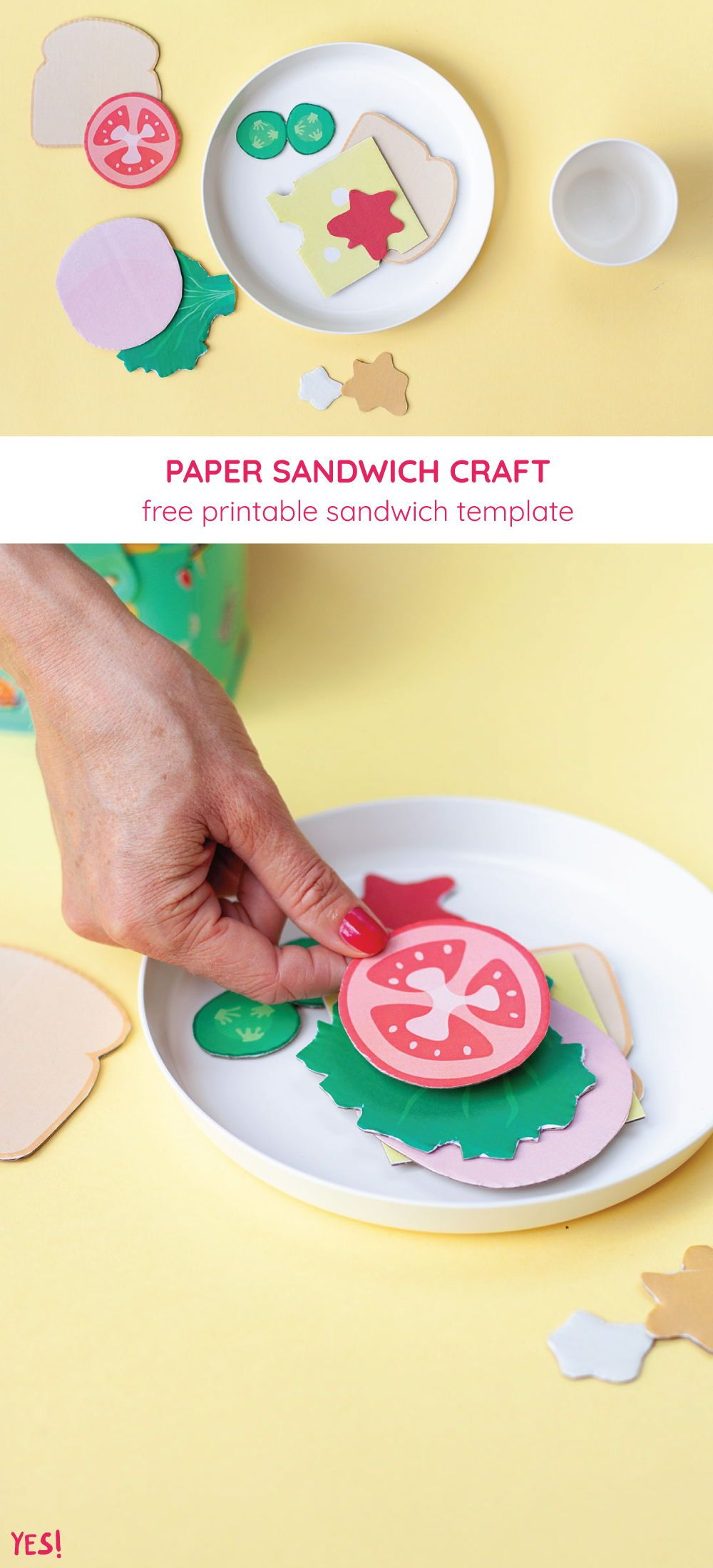 Diy Play Food Sandwich Printable Yes We Made This In 2020 Paper Crafts For Kids Easy Crafts For Kids Christmas Crafts For Kids