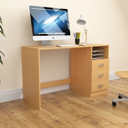 17 Stories Reiban Filey Desk In 2020 Wood Desk Design Corner