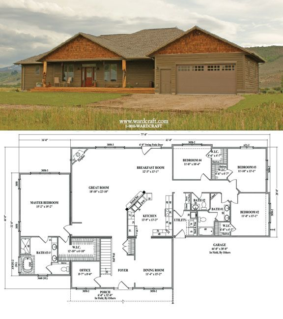 Cottonwood (2,766 sq ft) 4 Bedrooms, 2½ Baths  Office Dream Home