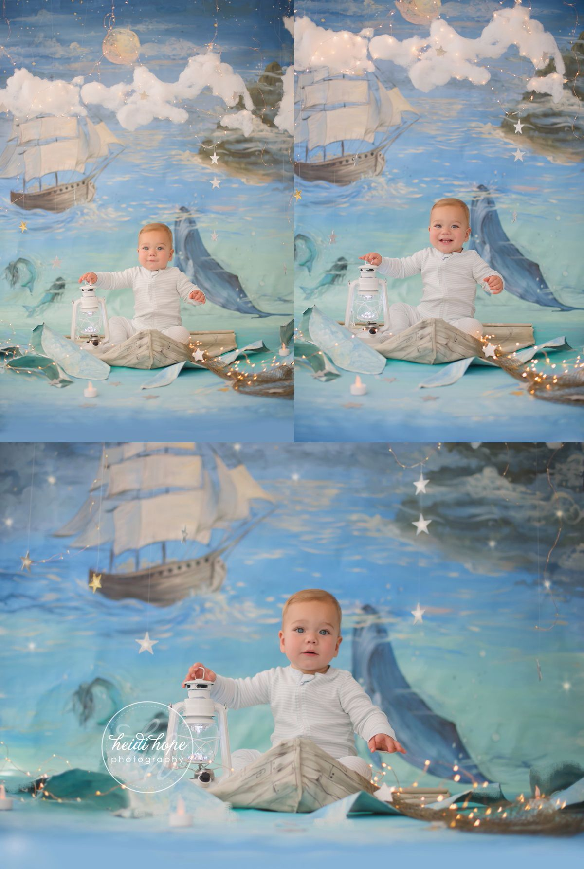 Grant's first birthday cakesmash! Finally blogged. (land of nod, nautical, peter pan, magical first birthday session and backdrop)