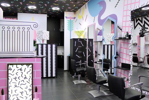 80s Style Hair Salons In Slovenia By Kitsch Nitsch Design Milk Salon Decor Salon Pictures Hair Salon