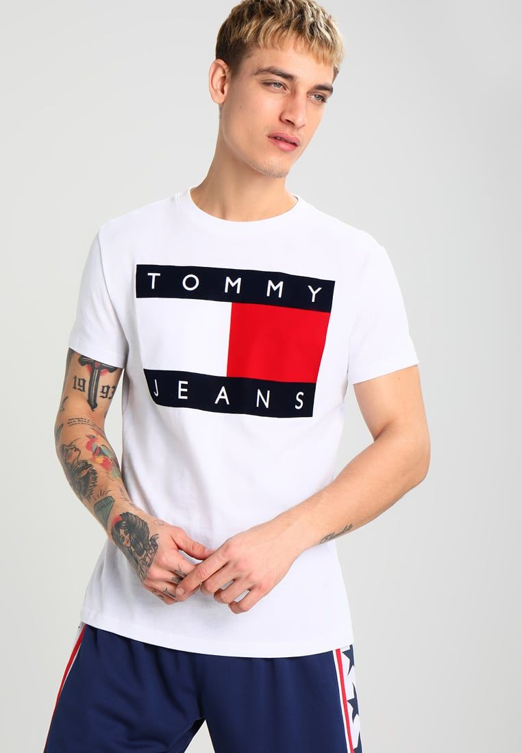 0b29c80ae3 Hilfiger Denim TOMMY JEANS 90S - Print T-shirt - white - Zalando.co ...